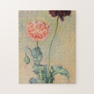 Red and Pink Poppies Monet Fine Art Jigsaw Puzzle