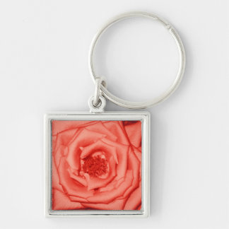 Red and Pink Rose Keychain