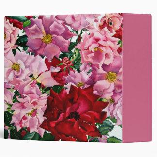 Red and Pink Roses 2008 Vinyl Binder