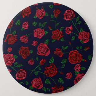 Red and Pink Roses Badge 6 Inch Round Button
