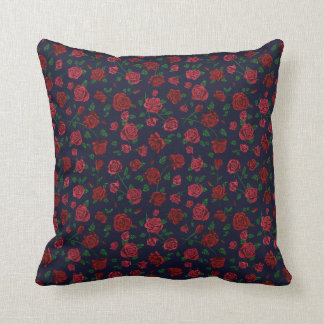 Red and Pink Roses Cushion