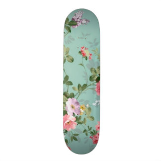 red and pink roses skate decks