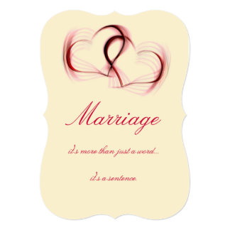 "Red and Pink Sarcastic Wedding Cards 5"" X 7"" Invitation Card"