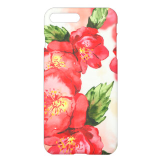 Red and Pink Soft Watercolor Roses iPhone 8 Plus/7 Plus Case