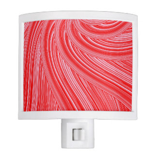 Red and Pink Spiral  Print Night Lights