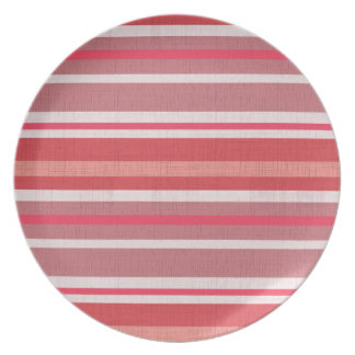 Red and Pink Stripes Party Plates