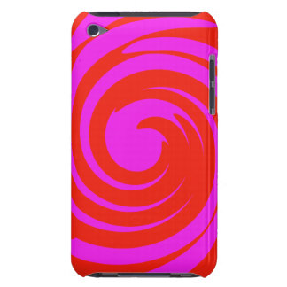 Red and pink swirl Case-Mate iPod touch case