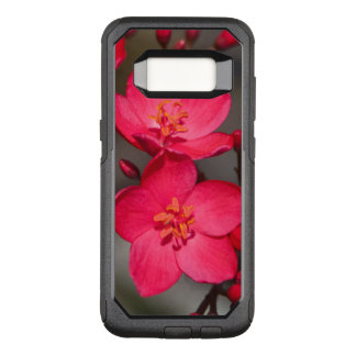 Red and Pink Tropical Fiji Flowers OtterBox Commuter Samsung Galaxy S8 Case