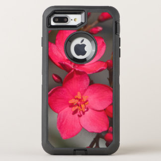 Red and Pink Tropical Fiji Flowers OtterBox Defender iPhone 8 Plus/7 Plus Case