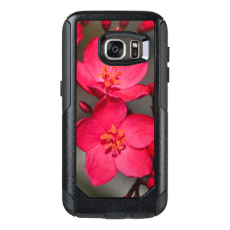 Red and Pink Tropical Fiji Flowers OtterBox Samsung Galaxy S7 Case