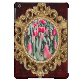 Red and Pink Tulips, Flower Field in Spring iPad Air Cases