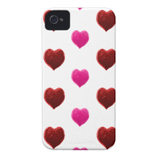 Red and Pink Valentine Hearts iPhone 4 Cases