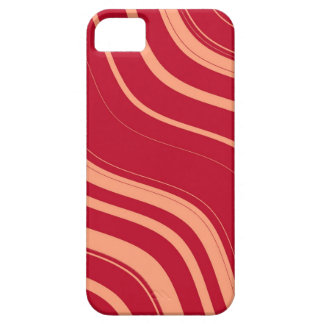 Red and Pink Wavy Stripes Pattern Case For The iPhone 5