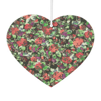 Red and Purple Floral Mash Up Air Freshener