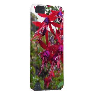 Red and purple Fuchsia Magellanica iPod Touch 5G Case