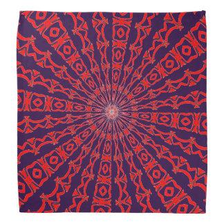 Red and Purple Kaleidoscope Bandana
