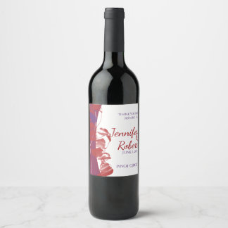 Red and Purple Leaf Wine Label