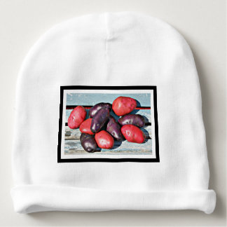 red and purple Potatoes Baby Beanie