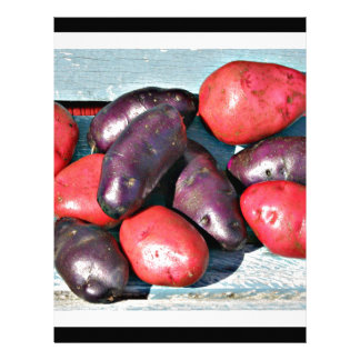red and purple Potatoes Letterhead