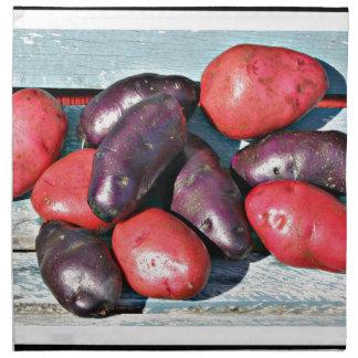 red and purple Potatoes Napkin