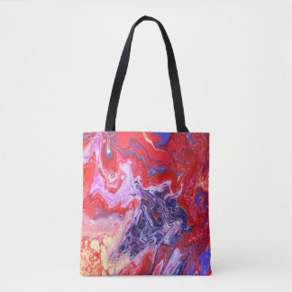 Red and Purple Tote