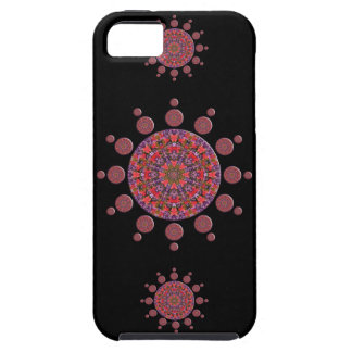Red and Purple Tulip Mandala Fractal iPhone 5 Cases