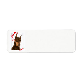 Red and Rust Doberman Return Address Labels