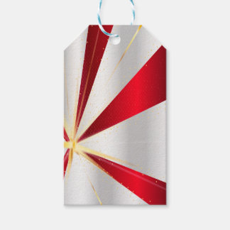 Red And Silver Background Gift Tags