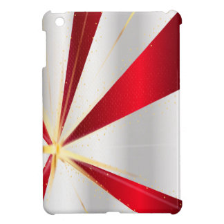 Red And Silver Background iPad Mini Cover