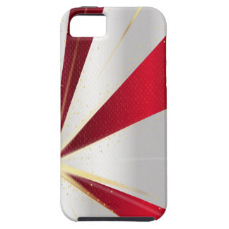 Red And Silver Background iPhone 5 Case