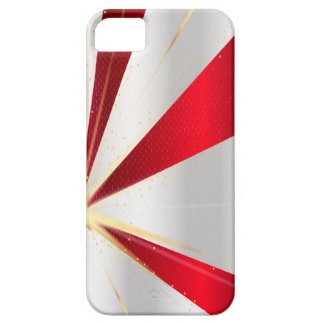 Red And Silver Background iPhone 5 Cover