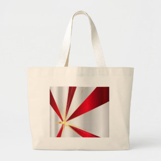 Red And Silver Background Large Tote Bag