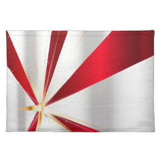 Red And Silver Background Placemat