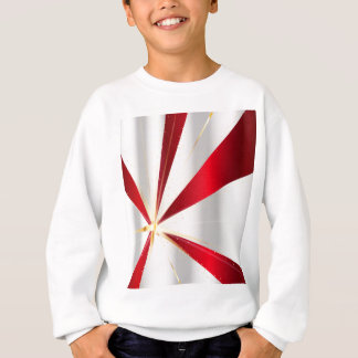 Red And Silver Background Sweatshirt