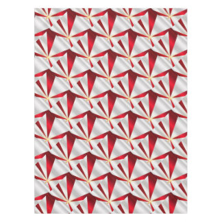 Red And Silver Background Tablecloth