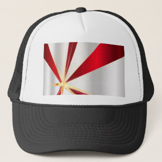 Red And Silver Background Trucker Hat