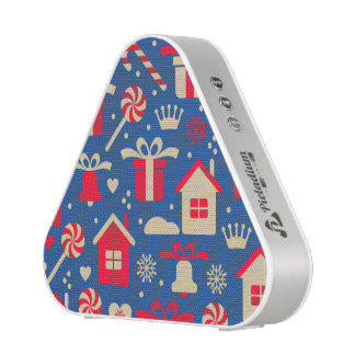 Red and Silver Christmas Candies and Gifts Pattern Speaker