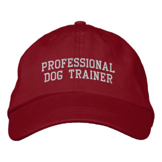 Red and Silver Professional Dog Trainer Embroidered Hats