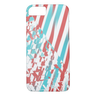 Red And Sky Blue Line and Triangles Case