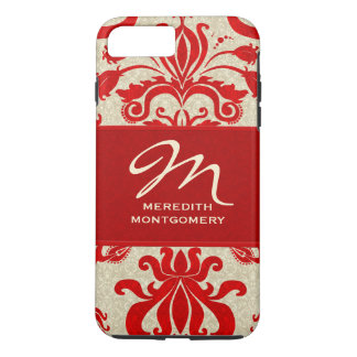 Red and Taupe Damask | Custom Case