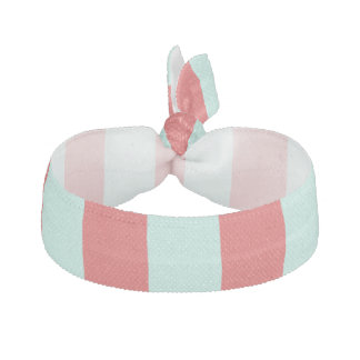 Red and Turquoise Stripes Hair Tie