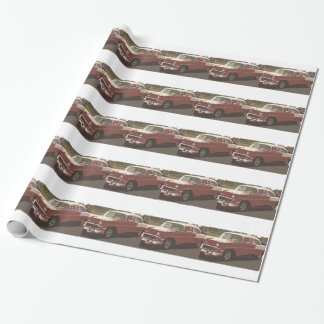 Red and white 55 Chevy design, gift wrap. Wrapping Paper