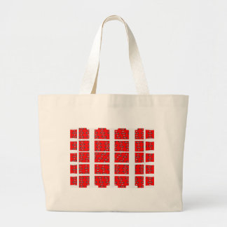 Red and White Abstract Jumbo Tote Bag