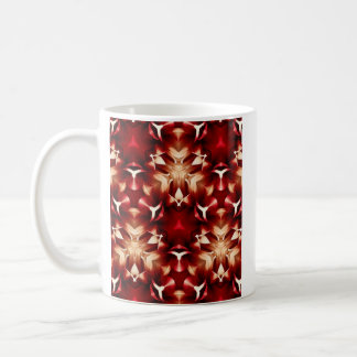 Red And White Abstract Design Coffee Mug