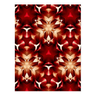 Red And White Abstract Design Postcard