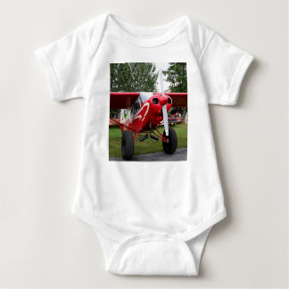 Red and white aircraft, Alaska Baby Bodysuit