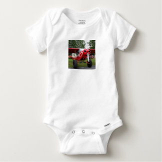 Red and white aircraft, Alaska Baby Onesie