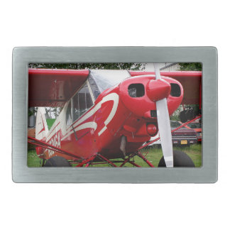 Red and white aircraft, Alaska Belt Buckle