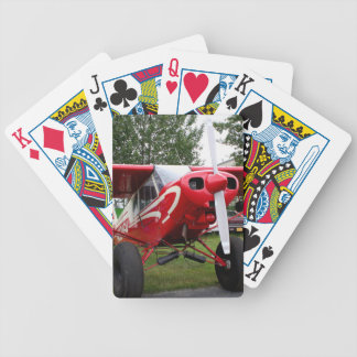 Red and white aircraft, Alaska Bicycle Playing Cards