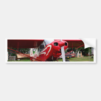 Red and white aircraft, Alaska Bumper Sticker